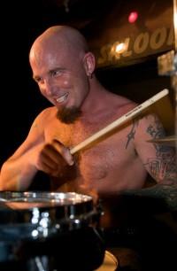 Powerhouse drummer Frankie Garisto